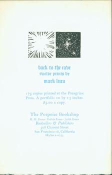 Back To The Cave: Twelve Prints by Mark Luca.: Porpoise Bookshop & Gallery; Mark Luca; Henry Evans;...