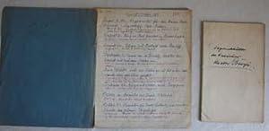 Diary of Theodor Bunje.: Bunje, Theodor.