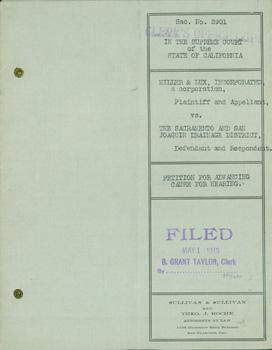 Sac. #2901 In the Supreme Court Of the State of California. Miller & Lux, Inc. (Plaintiff &...