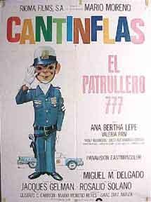 El Patrullero 777. [Movie poster / Cartel: Cantinflas (Mario Moreno).