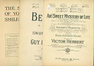 Sheet Music, ca. 1890 - 1955. Popular Song.: Various.