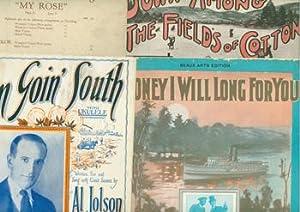 Minstrel Sheet Music, 1910-1923.: Longbrake, Arthur, Ed Edwards; Ruth McEnery Stuart, Deems Taylor;...