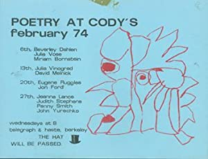 Poetry At Cody's. February 74.: Cody's Bookstore (Berkeley,