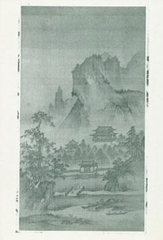 Photograph of Ancient Chinese Painting of Temples Below Mountains in Forest.: Freer Gallery of Art ...