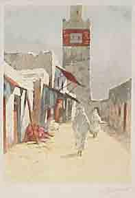 The Mosque at Ariana.: Guinegault, Georges Pierre.