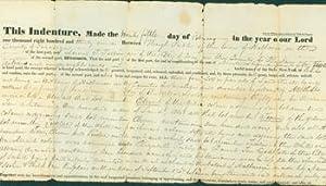 Indenture of Sale in Halfmoon, NY between Peebles & Tellin, February 25, 1831.: Peebles, Hugh; ...