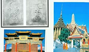 Death Piece # 98.6. Two Color Images of Asian Temples.: 20th Century Artist.