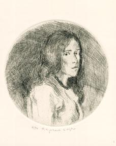 Girl in a Circle.: Soyer, Raphael.