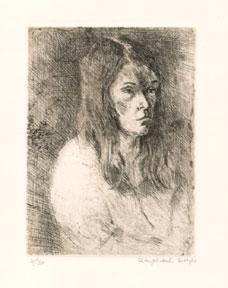 Portrait of a Woman.: Soyer, Raphael.