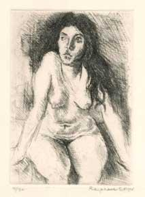 Seated Nude.: Soyer, Raphael.