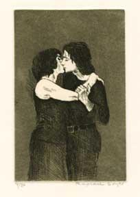 Standing Couple, Embracing.: Soyer, Raphael.