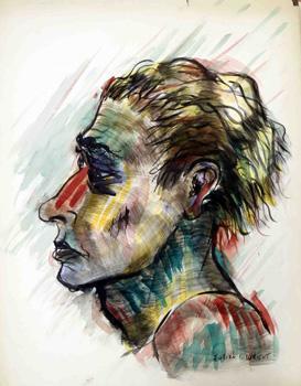 Multicolored Woman in Profile: Wright, Julian Chapman (1904-1978)
