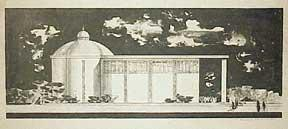 Design for a Building with Dome and Frieze.