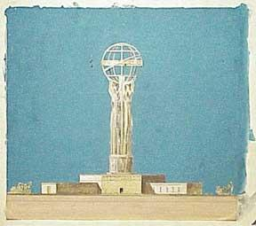 Monument to Democracy. Statue of Liberty in the Pacific. Design for Project at San Pedro, Port of...