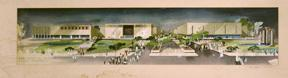 Design for the Pomona Mall Shopping Center (now Western University of Health Sciences).