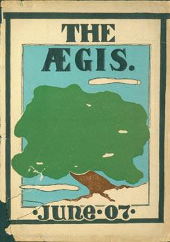 Dust Jacket for The Aegis: June 07. 1907 Oakland High School Yearbook. Cover Only.: Oakland High ...