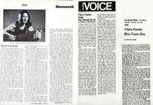 Flora Purim Press Clippings.: Village Voice, Newsweek,