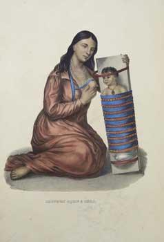 Chippeway Squaw & Child [Kneeling] from History: McKenney, Thomas L.
