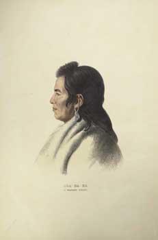 SHA-HA-KA / A MANDAN CHIEF. from History: McKenney, Thomas L.
