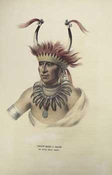 CHON-MON-I-CASE / AN OTTO HALF CHIEF from: McKenney, Thomas L.