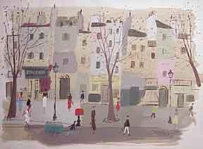 French Street Scene. Epicerie.: Villard.
