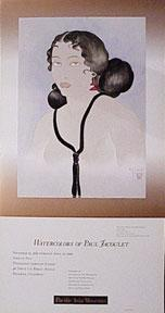 Watercolors of Paul Jacoulet. November 22, 1989 through April 22, 1990. Exhibition poster depicti...