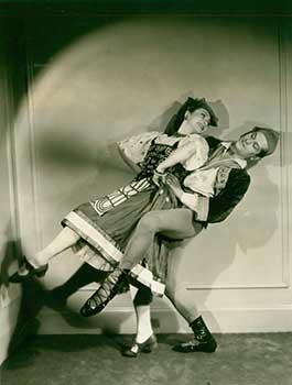 Olga Morosova and Roman Jasinsky in the Tarantella dance from Boutique Fantasque, III: Col. W. de ...