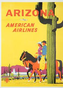 Arizona. American Airlines. First edition poster. Signed.