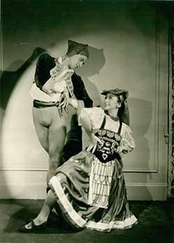 Olga Morosova and Roman Jasinsky in the Tarantella dance from Boutique Fantasque, IV: Col. W. de ...