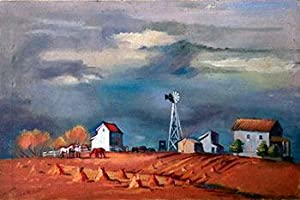 Farm Scene in the manner of Edward Hopper: Boratko, André (1912 - 1990)