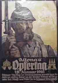 Altona's Opfertag 18 January 1916. (German World War 1 poster).