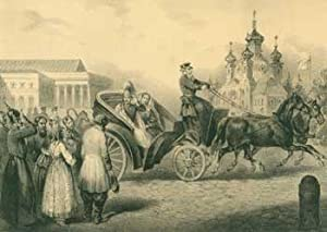 Kaiser Alexander der II. von Russland in Peterhof (Emperor Alexander II. Of Russia in Peterhof).: C...