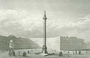 St. Petersburg Alexander Saeule (Alexander Column in St. Petersburg, Russia).: Carl Joseph Meyer.