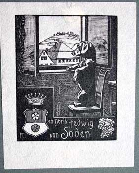 Ex Libris Hedwig von Soden.: Lang, Fritz.