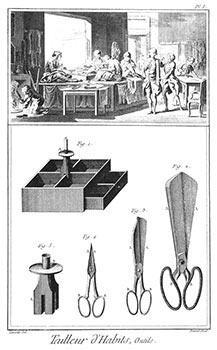 Tailleur d'habits et tailleur de corps [ Mens and Womens Tailor of Suits and Bodices]: ...
