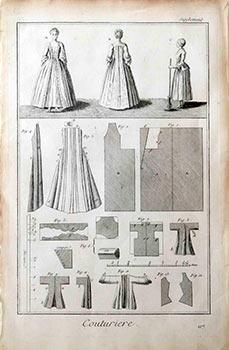 Couturière [Dressmaker]. Engravings from Denis Diderot and Jean Baptiste Le Rond d'...
