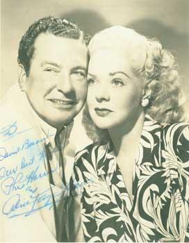 Signed and inscribed Photograph from Phil Harris & Alice Faye.: Harris, Phil (1904-1995) & ...