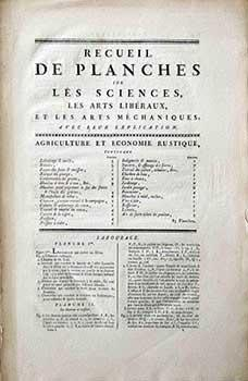 Recueil de Planches: Agriculture et Economie Rustique [Rural and Peasant Life and Industry in 18th ...