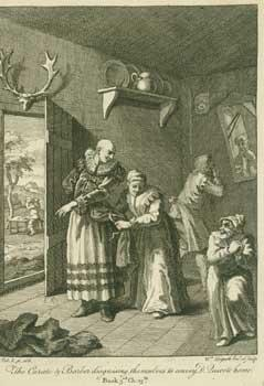 The Curate & Barber disguising themselves from: Hogarth, William