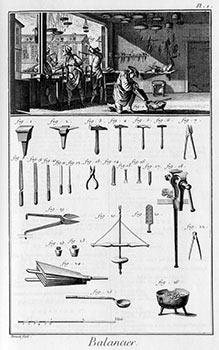 Balancier [Balance/Scale Maker]. Engravings from Denis Diderot and Jean Baptiste Le Rond d'...