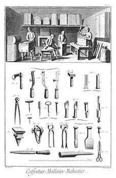 Coffretier-Malletier-Bahutier [Chest and Trunk Making] Engravings from Denis Diderot and Jean ...