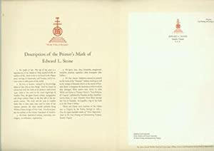 Description Of a Printer's Mark. With A Specimen Letterhead of a Widely-Known Typographer, Printe...