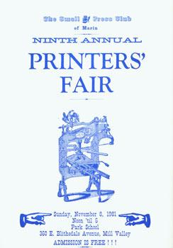 Ninth Annual Printers' Fair.