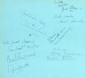 Original Autographs by Tessa Deane, Jack Allen,: Tessa Deane, Jack