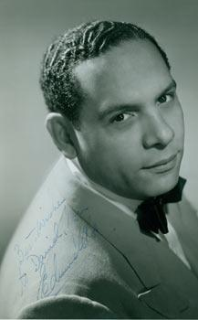 Signed Photograph of bandleader Edmundo Ros.