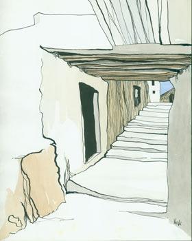 Naxos, '65. (Ascending Stairs).: Kirby, Vesta.