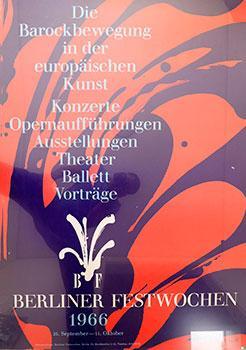 Berliner Festwochen 1966: 25.9-11.10. [Berlin Festival 1966]. by ...