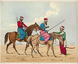 Two Arab Horsemen and a Standing Arab: Alken, Henry (1785