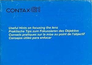Contax G1: Useful Hints on focusing the lens. Original manual.: Kyocera.