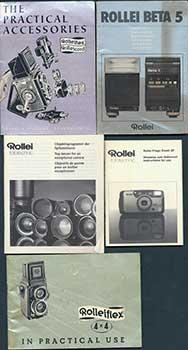 Rollei manuals and guidebooks including: Rolleiflex 4x4 in Practical Use, Rolleiflex the Practical ...